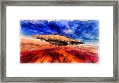 Ufo Speeding Framed Print by Esoterica Art Agency