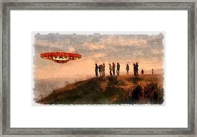 Ufo Spotting Framed Print by Esoterica Art Agency