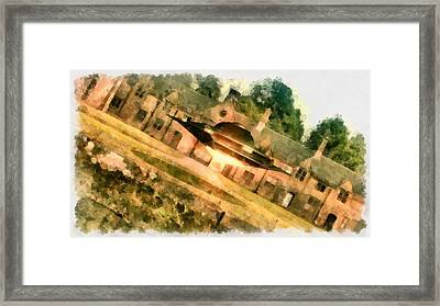 Ufo Stately Home Framed Print by Esoterica Art Agency