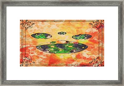 Ufo Variations By Rt And Mb Framed Print