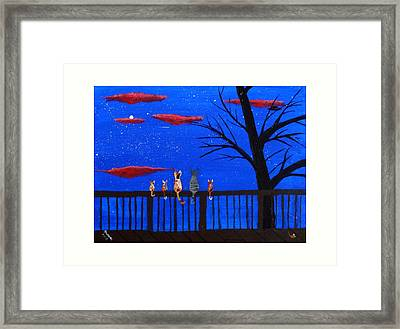 Ufo Watch Framed Print by Michael Moore