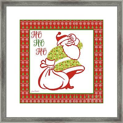Ugly Christmas Sweater Santa-c Framed Print
