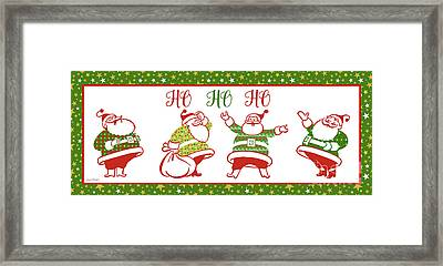 Ugly Christmas Sweater Santas-e Framed Print