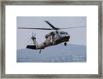 Uh-60a Black Hawk Medevac Helicopter Framed Print