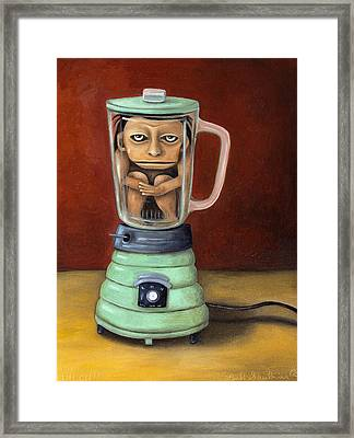 Uh Oh Framed Print by Leah Saulnier The Painting Maniac