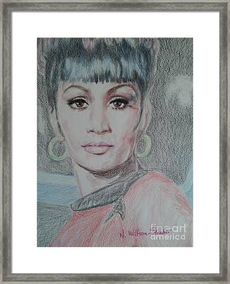 Uhura, She Walks In Beauty Framed Print