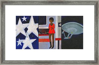 Uhura Stars In Space Framed Print