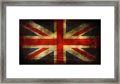 Uk Flag Framed Print by Brett Pfister