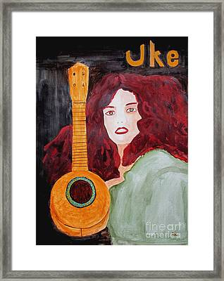 Framed Print featuring the painting Uke by Sandy McIntire