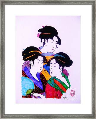 Framed Print featuring the painting Ukiyo Sekai Go by Roberto Prusso