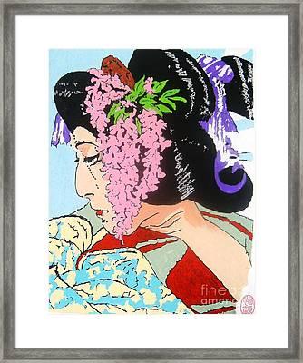 Framed Print featuring the painting Ukiyo Sekai Ichi  by Roberto Prusso
