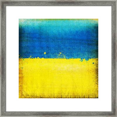 Ukraine Flag Framed Print by Setsiri Silapasuwanchai