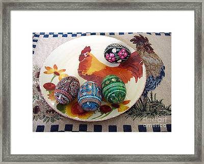 Ukrainian Pysanka Framed Print by Jim Sauchyn
