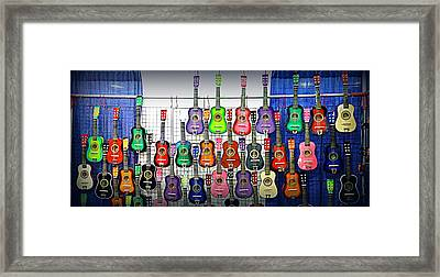 Framed Print featuring the photograph Ukuleles At The Fair by Lori Seaman
