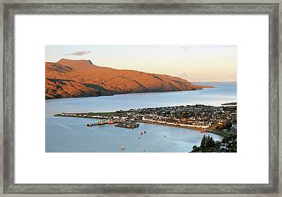 Framed Print featuring the photograph Ullapool Morning Light by Grant Glendinning