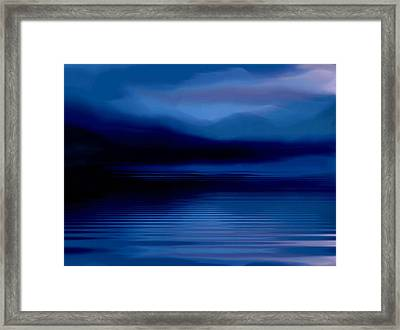 Ullswater At Dusk Framed Print by Susan  Solak