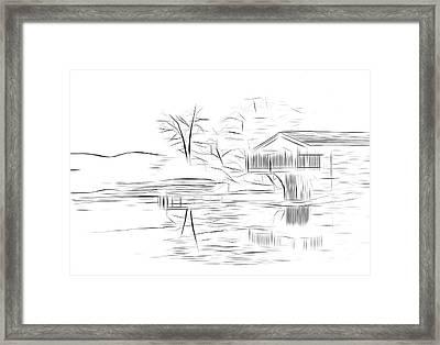 Ullswater Digital Art Framed Print