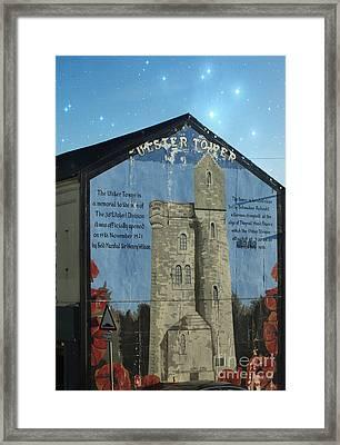 Ulster Tower Mural Framed Print