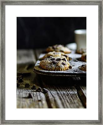 Ultimate Chocolate Chip Muffins Framed Print
