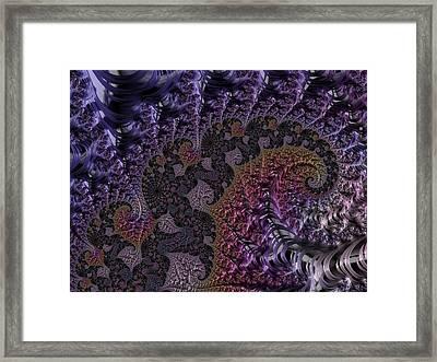 Ultra Leaf Spiral Framed Print