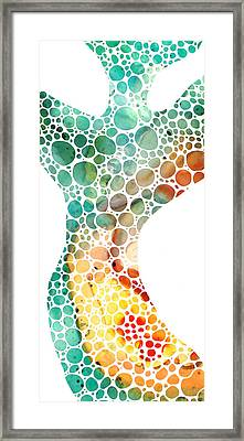 Ultra Modern Art - Colorforms 2 - Sharon Cummings Framed Print by Sharon Cummings