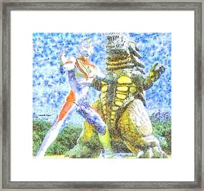 Ultraman Fighting - Pa Framed Print