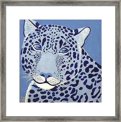 Ultramarine Jaguar Framed Print