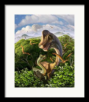 Pterosaur Framed Prints