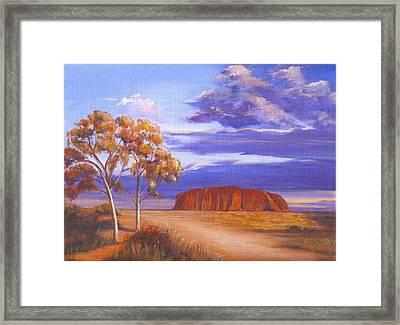 Uluru  - Ayers Rock Framed Print by Robynne Hardison
