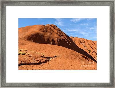 Framed Print featuring the photograph Uluru 04 by Werner Padarin