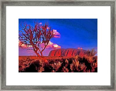 Uluru Framed Print by Dennis Cox WorldViews