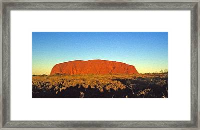Framed Print featuring the photograph Uluru by Gary Wonning