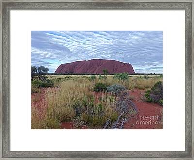Uluru Sky Framed Print by Phil Banks