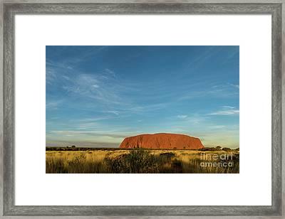 Framed Print featuring the photograph Uluru Sunset 01 by Werner Padarin
