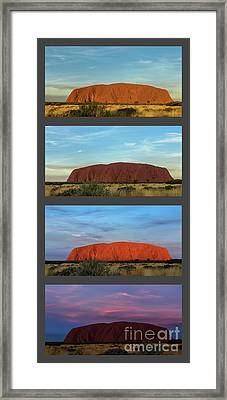 Uluru Sunset Framed Print