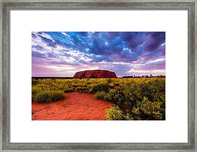 Framed Print featuring the photograph Uluru by Ulrich Schade
