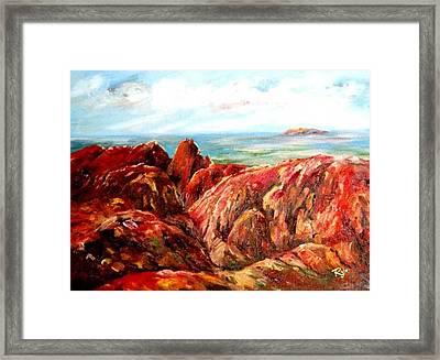 Uluru Viewed From Kata Tjuta Framed Print