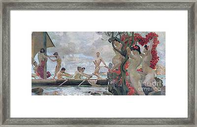 Ulysses And The Sirens Framed Print