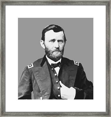 Ulysses S Grant Framed Print by War Is Hell Store
