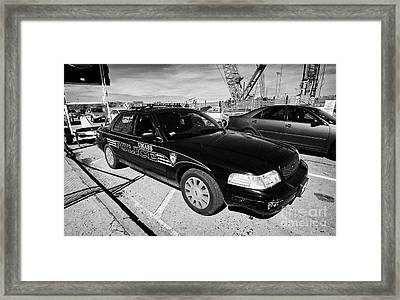 umass university campus police patrol vehicle Boston USA Framed Print