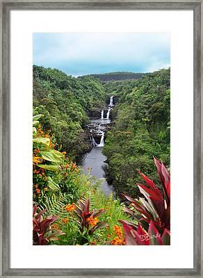 Umauma Falls Hawaii Framed Print