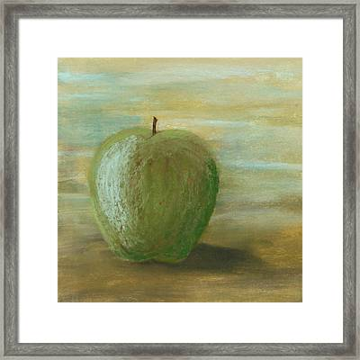 Umber Apple Framed Print by Cheryl Albert