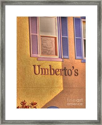 Umbertos Framed Print