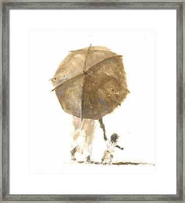 Umbrella And Child One Framed Print
