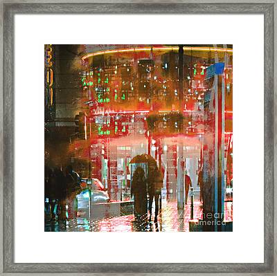 Umbrellas Are For Sharing Framed Print
