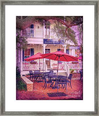 Umbrella Cafe Framed Print