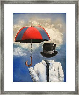 Umbrella Framed Print by Crispin  Delgado