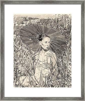 Umbrella Framed Print by Darryl Barnes
