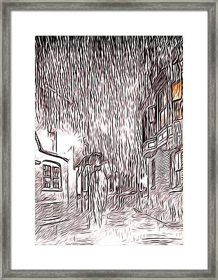 Umbrella Man Framed Print