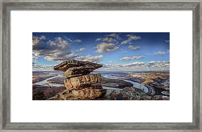 Umbrella Rock Overlooking Moccasin Bend Framed Print